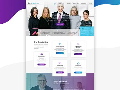 Web Design for Dr Tom melbourne krystlesvetlana modern design colourful medical design web design