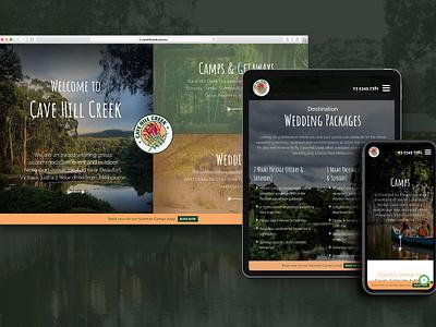 Web Design for Cave Hill Creek melbourne freelancer krystlesvetlana destination wedding website earthy design webdesign