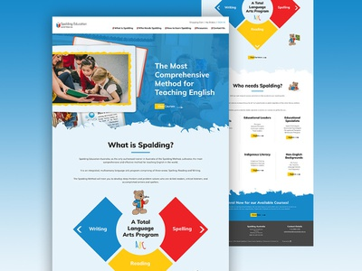 Web Design for Spalding Education Australia freelancer melbourne krystlesvetlana colourful playful design education web design web design