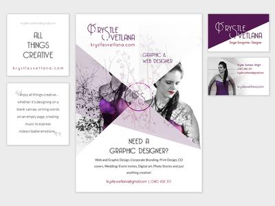 My own branding mockup krystlesvetlana print design stationary branding design
