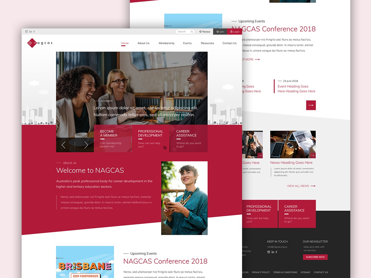 Web Design for NACGAS by Krystle Svetlana on Dribbble