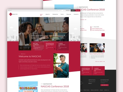 Web Design for NACGAS australia melbourne freelancer krystlesvetlana responsive design modern design corporate web design web design