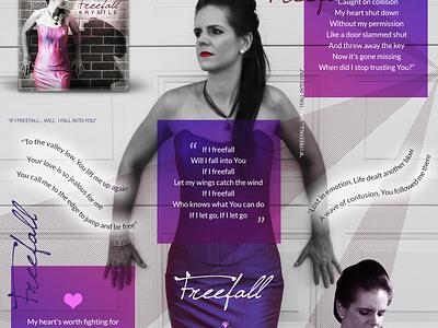 Freefall Instagram Design australia melbourne freelancer krystlesvetlana digital art music design marketing instagram