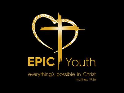 Epic Youth Logo australia melbourne freelancer krystlesvetlana print  design logo design