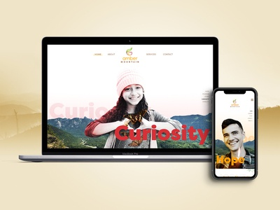 Web Design for Amber Mountain freelancer web  design digital art