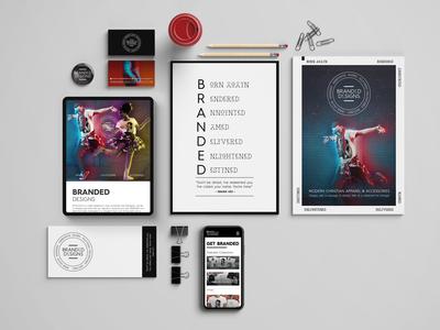 BRANDED Designs Stationary 2 freelancer krystlesvetlana webflow webdesign logo design branding design