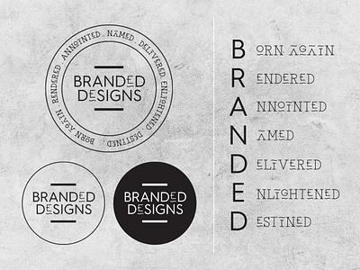 Logo Design for BRANDED Designs freelancer krystlesvetlana typography illustrator logo design