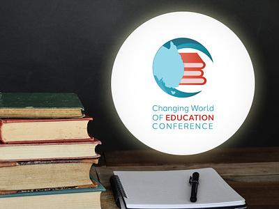 Changing World of Education Conference Logo freelancer krystlesvetlana education illustrator logo design logo