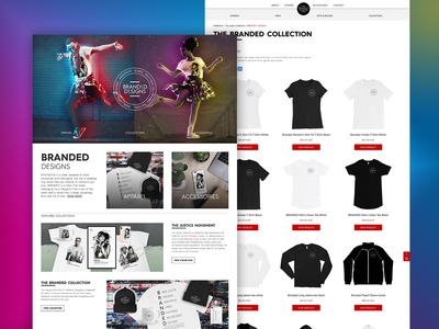 BRANDED Designs Web Design freelancer krystlesvetlana apparel design online store webflow web development web design