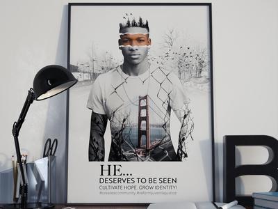 """""""He deserves to be seen"""" Poster freelancer krystlesvetlana poster design digital art double exposure"""