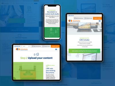 Web Design for 'LiME' freelancer krystlesvetlana web design