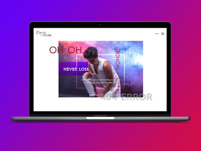 404 Error Page design for my personal website freelancer krystlesvetlana digital design webflow web design and development