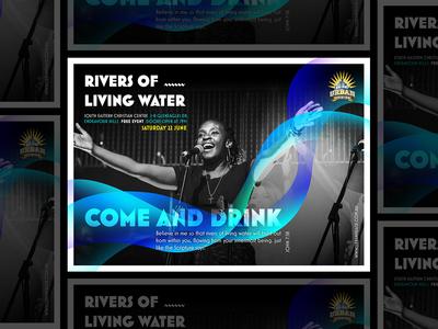 Urban Praise June Main Event Poster digitalart poster art print design