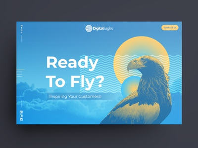 Concept Ideas for Digital Eagles webdesigner photoshop colourful australia melbourne ui design web design freelancer krystlesvetlana
