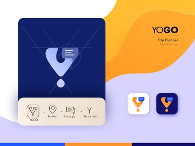 YOGO - logo concept trip planner travel icon identity app idea branding vector ui logo design illustration