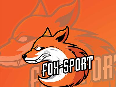 Fox Sport game design fox illustration fox logo fox tshirt branding logo vector illustration design