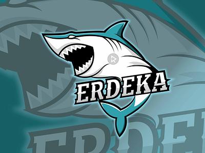 Wild Shark apparel tshirt design branding game logo shark logo vector illustration design