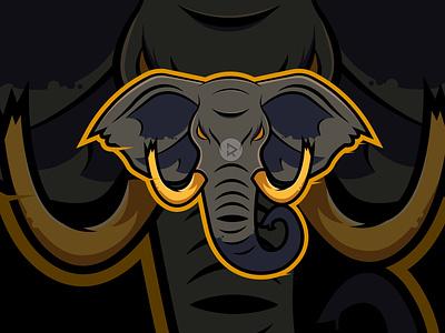 Elephant tshirt design game esport logo apparel logo illustrator branding vector illustration design