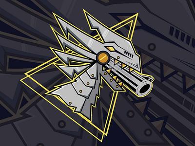 Trex vector tshirt design logo illustrator illustration game esport logo design branding apparel