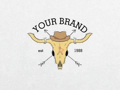 Bull Skull 🐂 skull bull t-shirt illustration