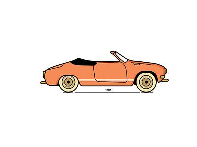 VW Kharmann Ghia vw kharmann ghia illustration