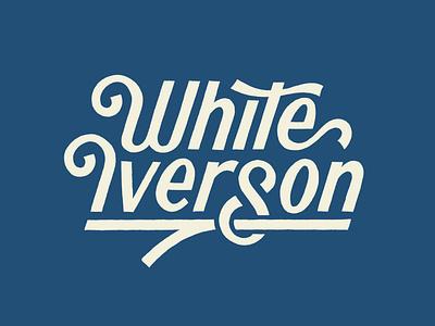 White Iverson design type art handlettering lettering artist typography lettering illustration