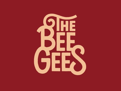 Bee Gees design type art handlettering lettering artist typography lettering illustration
