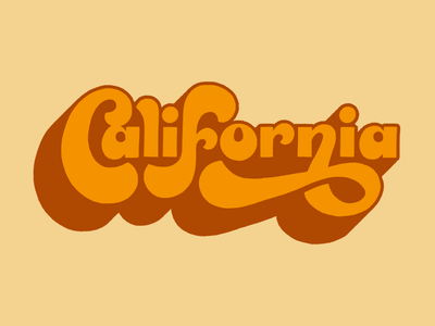California hand drawn hand lettering graphic design type art handlettering typography lettering artist lettering design illustration