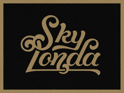 Sky Londa Logo vintage type custom type script motorcycle logo logodesign hand drawn graphic design type art handlettering typography lettering artist lettering illustration