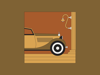 Rolls Royce illustrator line art vintage car minimal illustration design graphic design illustration digital modern illustration car illustration rolls royce phantom rolls royce