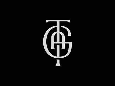 TGA Monogram branding type logo custom type vintage type vintage logo minimal logo elegant logo graphic design type art lettering artist design illustration lettering logo mark logo design monogram logo monograms monogram monogram design