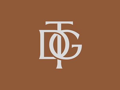 TDG Monogram branding vintage type timeless logo vintage logo logo type minimal logo freelance logo type art typography lettering artist lettering design illustration graphic design logo logodesign type logo monogram type monogram logo monogram