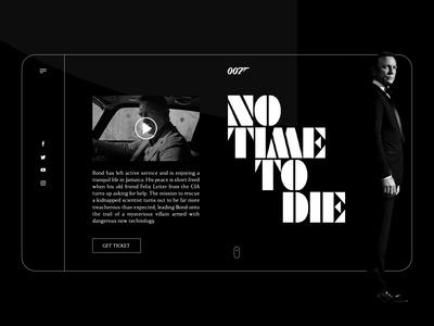 No time to die design UI