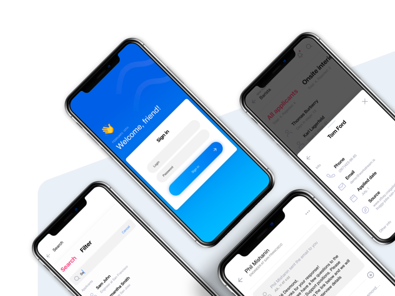 Mobile Blue Award search personal card messages welcome screen wireframe ui ux user concept cards design mini ui simple blue clean iphonex ios 10 ios mobile app design mobile app mobile award