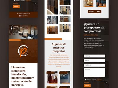 UI for wood crafters in Barcelona web website design ux ui