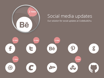 Social media updates social media icon bubble magnifying glass codebuild