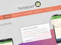 Notepad app website design