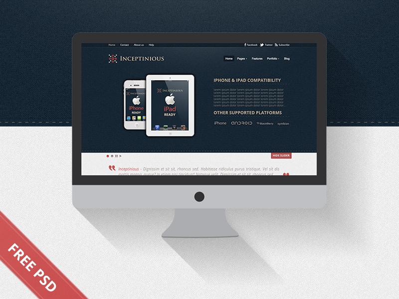 Business Website Web Design (Free PSD) freebie free psd download landing page modern free psd
