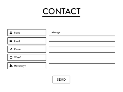 Contact form contact form input message ui design web ux monochrome