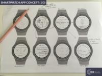 Smartwatch App Concept (1/3) : Sketching (2016)