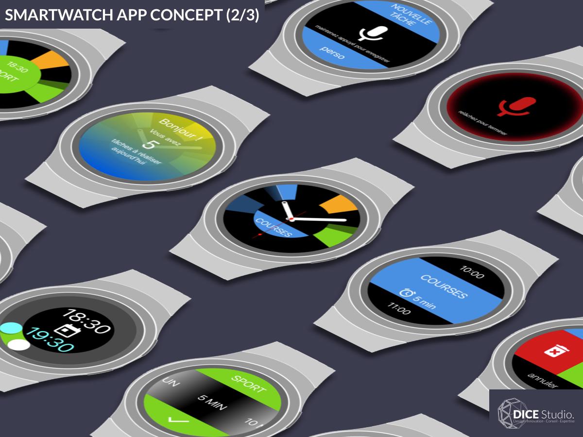 Smartwatch App Concept (2/3) : Designing (2016) ux principle sketch concept smartwatch