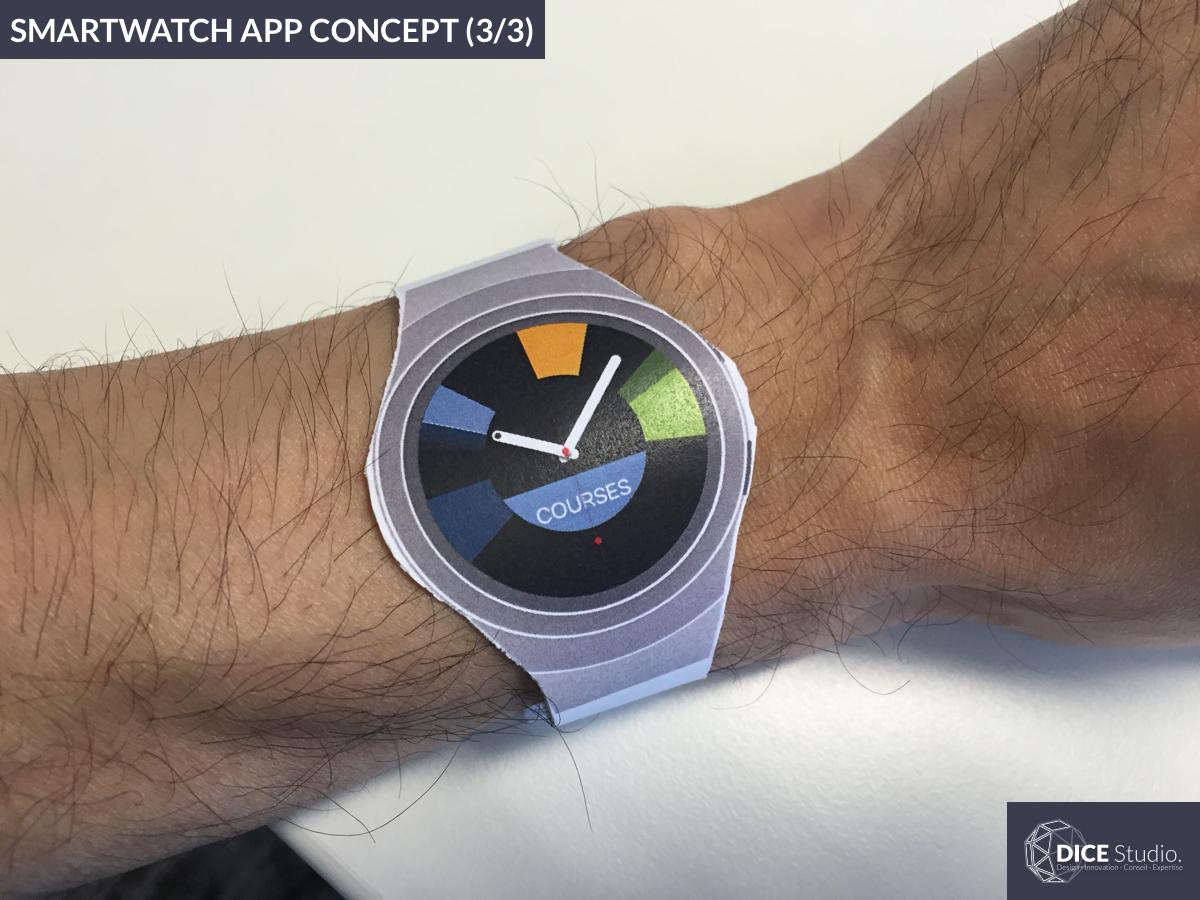 Smartwatch App Concept (3/3) : User testing (2016) user testing ux concept smartwatch