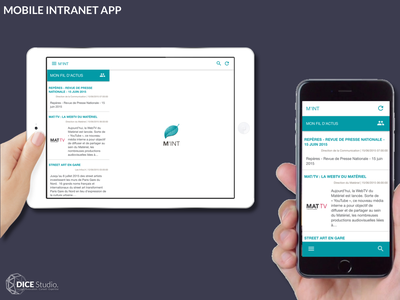 Mobile Intranet App (2015) material design android ios angularjs sketching ui ux