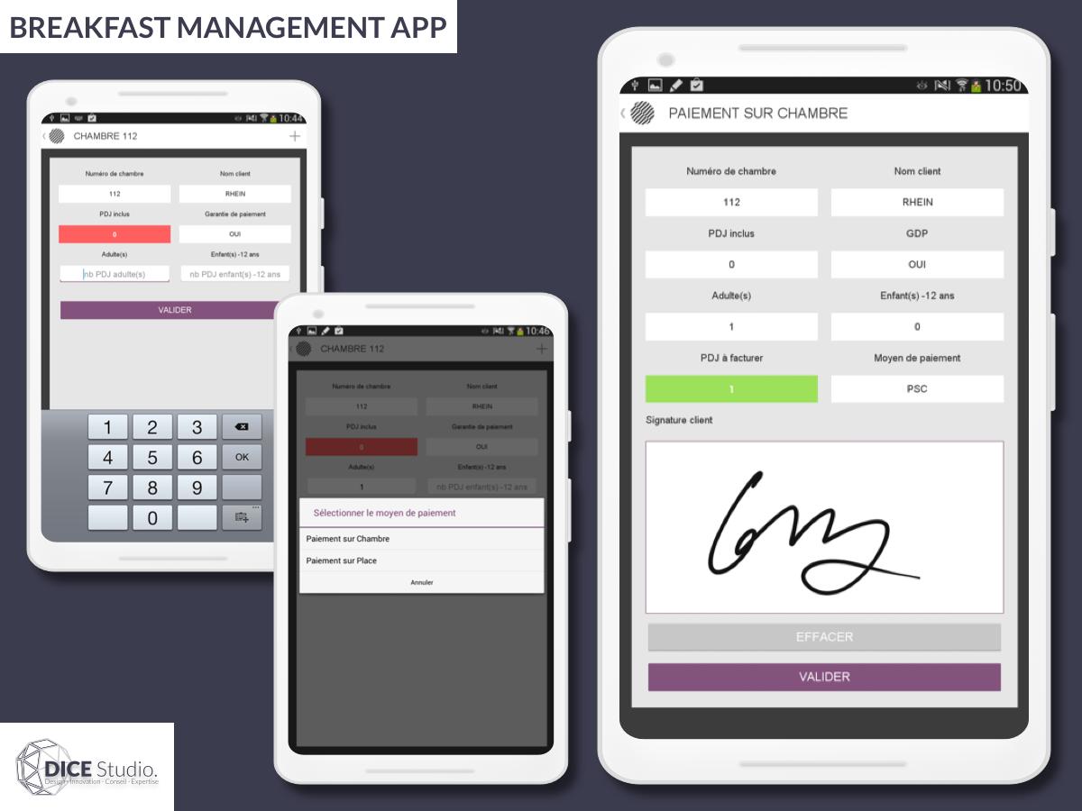 Breakfast Management App (2014) development app ui ux android