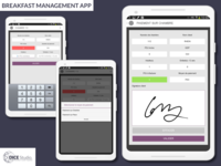 Breakfast Management App (2014) development app ui ux android