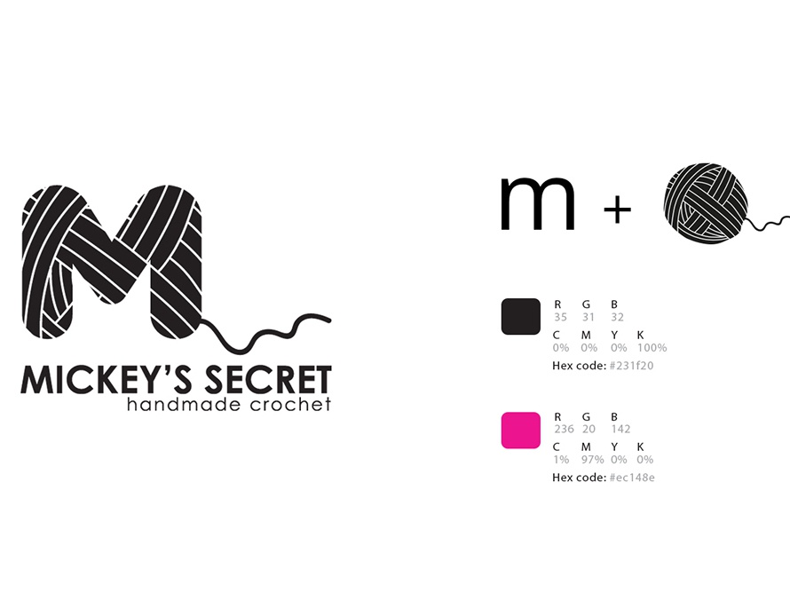 mickey's secret logo concept icon illustration logo a day logo concept brand and identity flat layer vector graphicdesign design typography branding