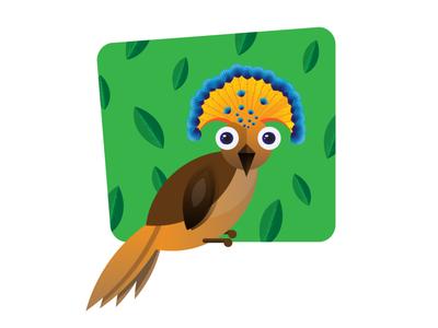 The crown bird