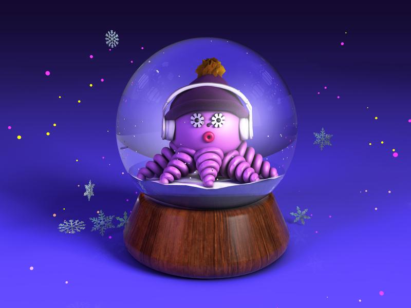 Dolly inside her snow globe