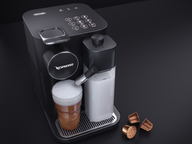 Nespresso coffee machine - Photoralistic rendering modeling photorealistic product visualization piotr mirosz mirosz freelance render 3d art advertising compositing illustration cinema4d art direction octane c4d 3d
