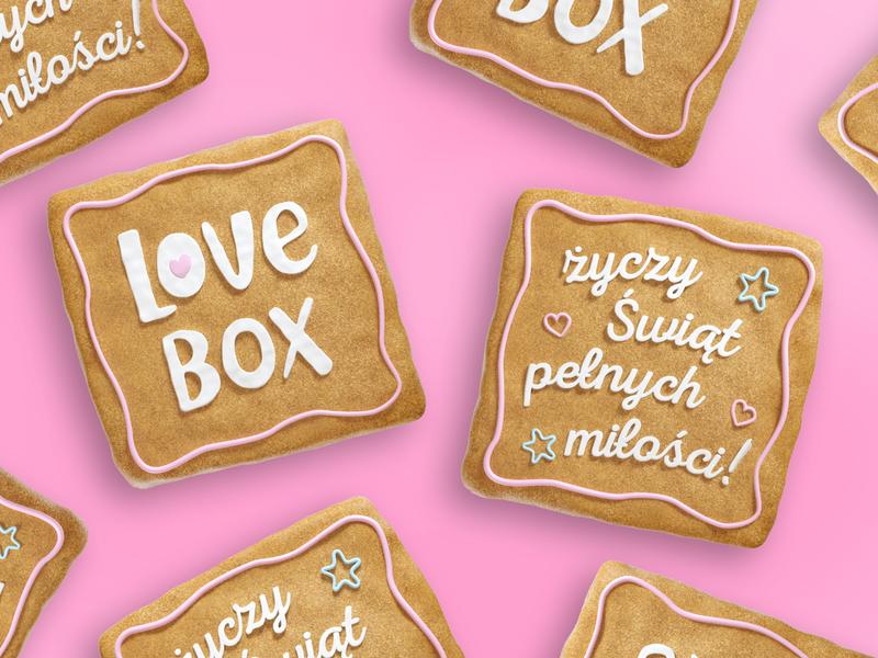 Social Media Post for LoveBox cookie post socialmedia advertising after effect illustration art direction cinema4d c4d 3d octane